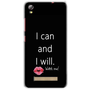 Gionee Pioneer P5L Mobile Covers Cases i can and i will Lips - Lowest Price - Paybydaddy.com