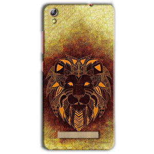 Gionee Pioneer P5L Mobile Covers Cases Lion face art - Lowest Price - Paybydaddy.com
