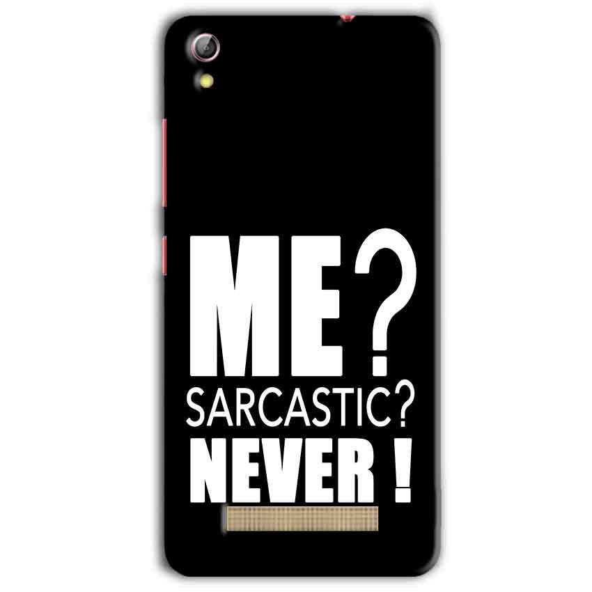 Gionee Pioneer P5L Mobile Covers Cases Me sarcastic - Lowest Price - Paybydaddy.com