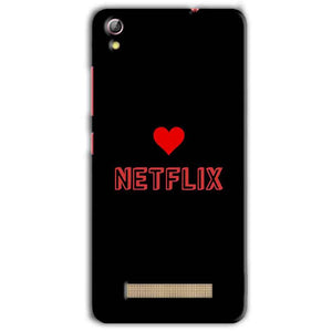 Gionee Pioneer P5L Mobile Covers Cases NETFLIX WITH HEART - Lowest Price - Paybydaddy.com