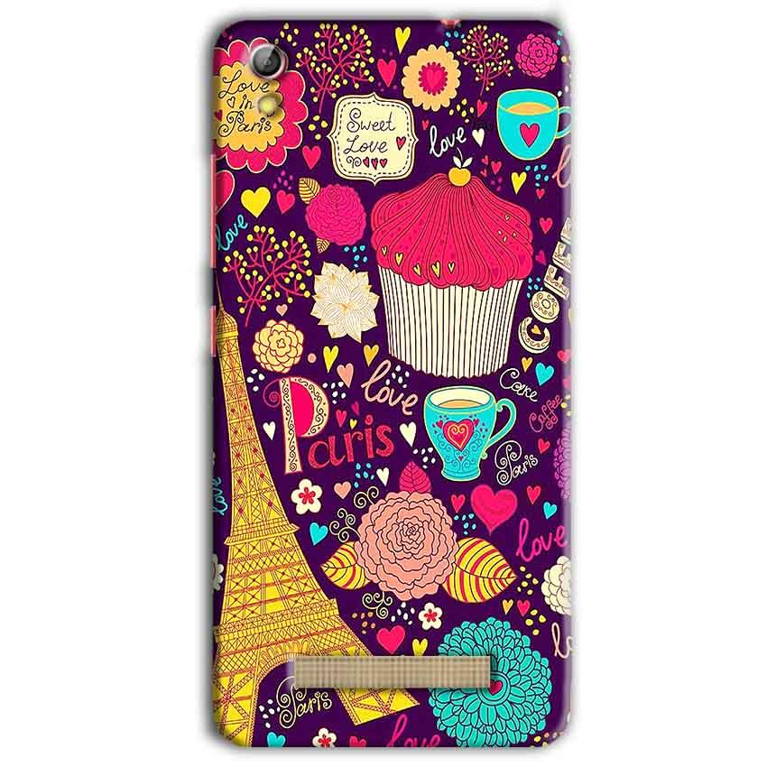 Gionee Pioneer P5L Mobile Covers Cases Paris Sweet love - Lowest Price - Paybydaddy.com