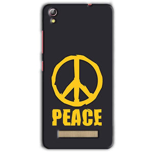Gionee Pioneer P5L Mobile Covers Cases Peace Blue Yellow - Lowest Price - Paybydaddy.com