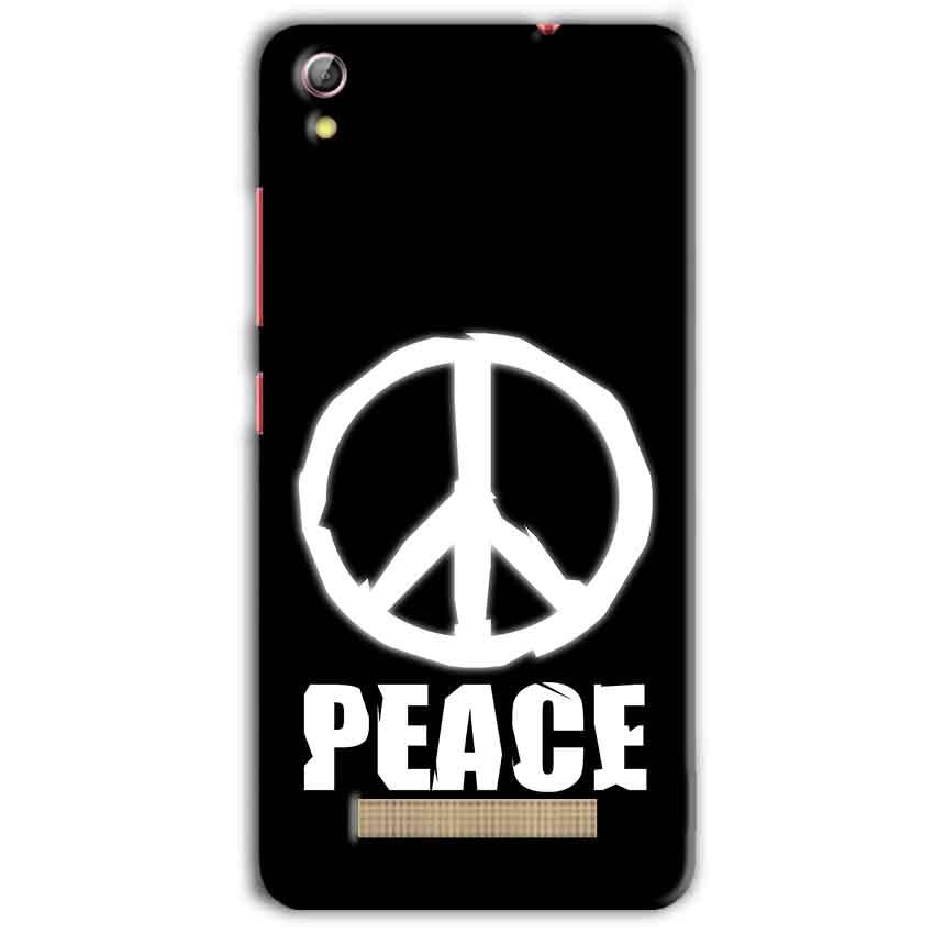 Gionee Pioneer P5L Mobile Covers Cases Peace Sign In White - Lowest Price - Paybydaddy.com