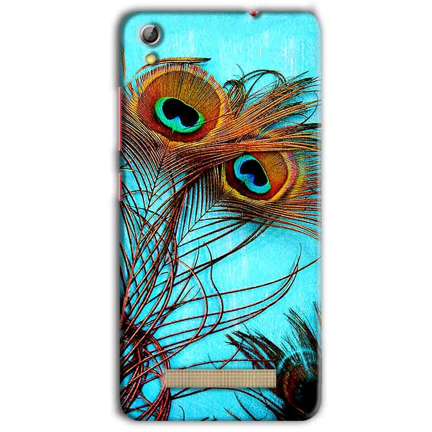 Gionee Pioneer P5L Mobile Covers Cases Peacock blue wings - Lowest Price - Paybydaddy.com