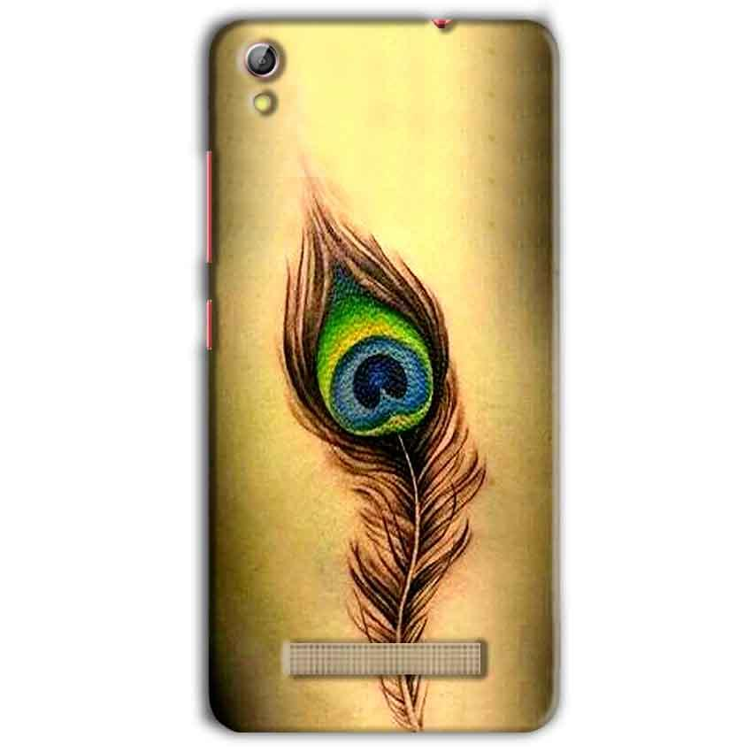Gionee Pioneer P5L Mobile Covers Cases Peacock coloured art - Lowest Price - Paybydaddy.com