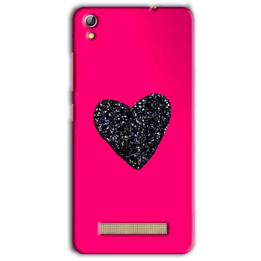 Gionee Pioneer P5L Mobile Covers Cases Pink Glitter Heart - Lowest Price - Paybydaddy.com