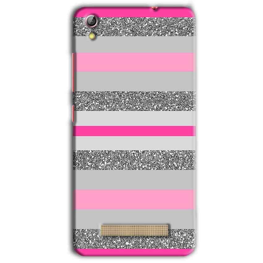 Gionee Pioneer P5L Mobile Covers Cases Pink colour pattern - Lowest Price - Paybydaddy.com