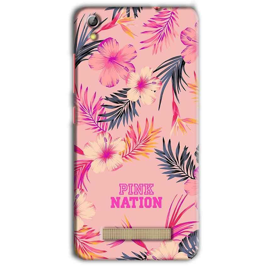 Gionee Pioneer P5L Mobile Covers Cases Pink nation - Lowest Price - Paybydaddy.com