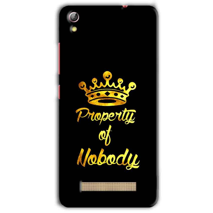 Gionee Pioneer P5L Mobile Covers Cases Property of nobody with Crown - Lowest Price - Paybydaddy.com