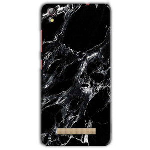 Gionee Pioneer P5L Mobile Covers Cases Pure Black Marble Texture - Lowest Price - Paybydaddy.com