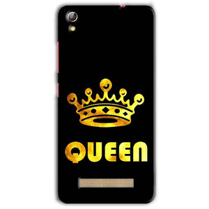 Gionee Pioneer P5L Mobile Covers Cases Queen With Crown in gold - Lowest Price - Paybydaddy.com