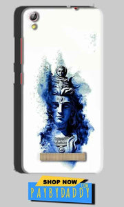 Gionee Pioneer P5L Mobile Covers Cases Shiva Blue White - Lowest Price - Paybydaddy.com