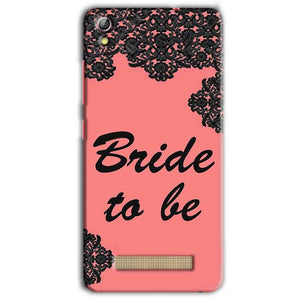 Gionee Pioneer P5L Mobile Covers Cases Mobile Covers Cases bride to be with ring Black Pink - Lowest Price - Paybydaddy.com