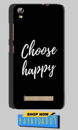 Gionee Pioneer P5L Mobile Covers Cases Choose happy - Lowest Price - Paybydaddy.com