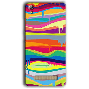 Gionee Pioneer P5W Mobile Covers Cases Melted colours - Lowest Price - Paybydaddy.com