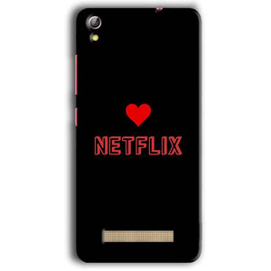 Gionee Pioneer P5W Mobile Covers Cases NETFLIX WITH HEART - Lowest Price - Paybydaddy.com