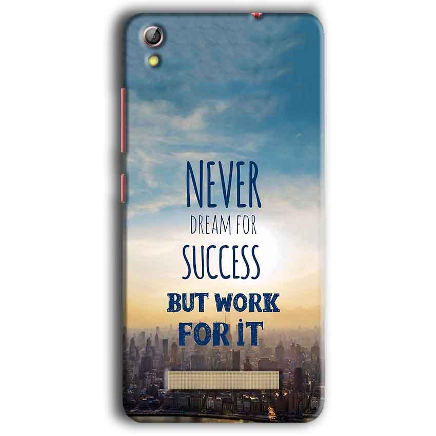 Gionee Pioneer P5W Mobile Covers Cases Never Dreams For Success But Work For It Quote - Lowest Price - Paybydaddy.com