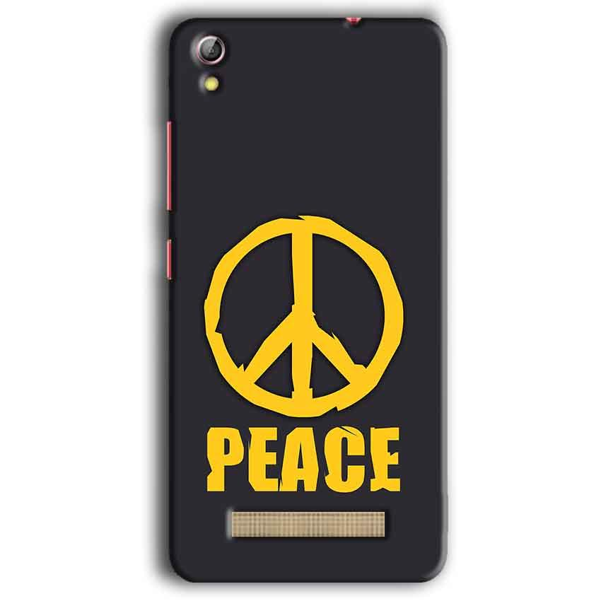 Gionee Pioneer P5W Mobile Covers Cases Peace Blue Yellow - Lowest Price - Paybydaddy.com