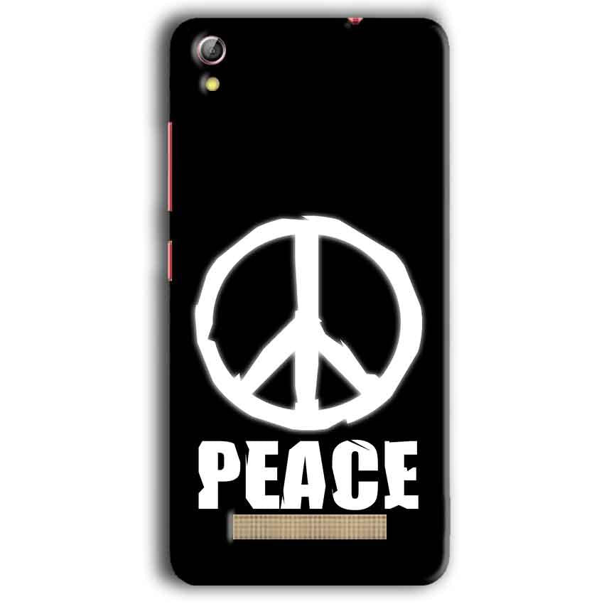 Gionee Pioneer P5W Mobile Covers Cases Peace Sign In White - Lowest Price - Paybydaddy.com