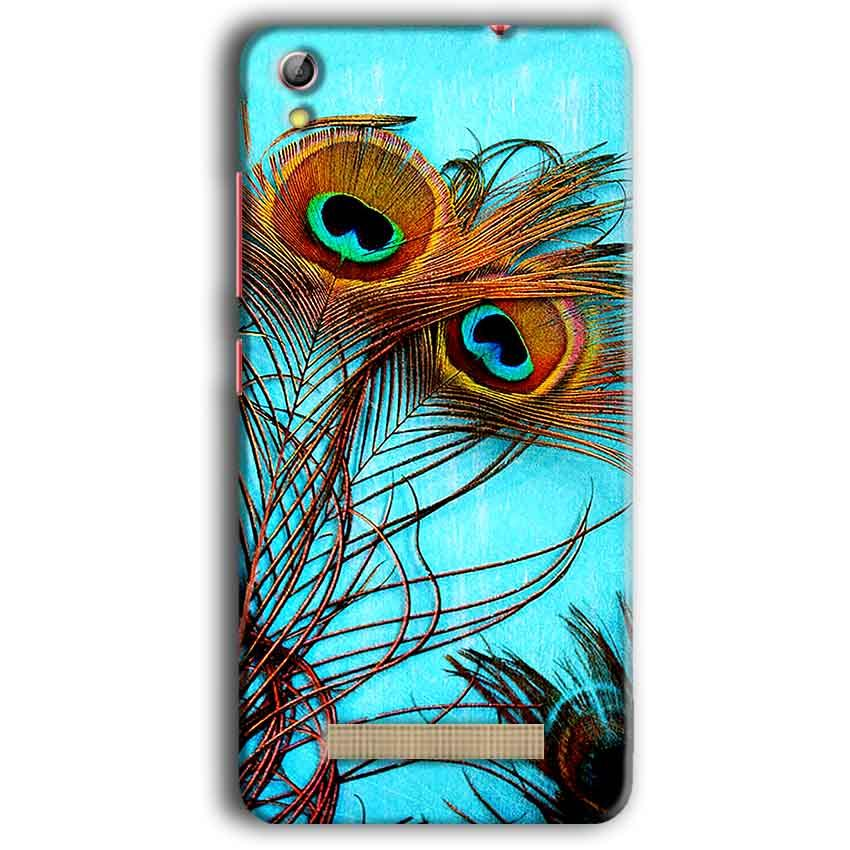 Gionee Pioneer P5W Mobile Covers Cases Peacock blue wings - Lowest Price - Paybydaddy.com