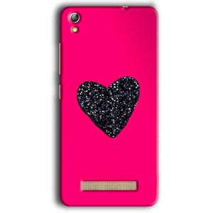Gionee Pioneer P5W Mobile Covers Cases Pink Glitter Heart - Lowest Price - Paybydaddy.com