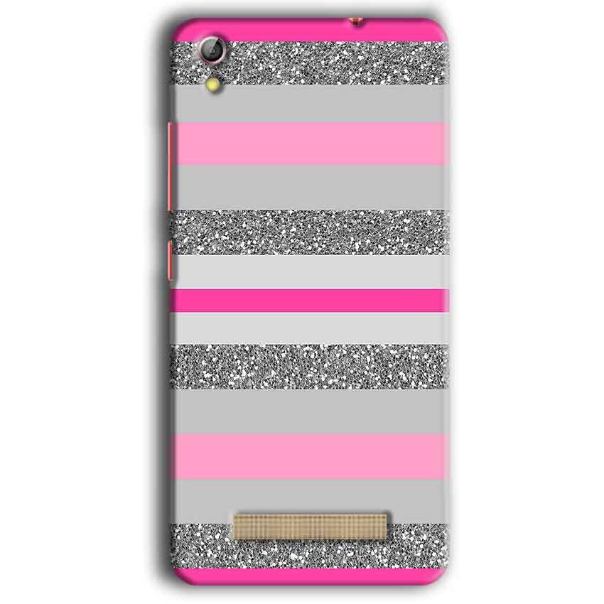 Gionee Pioneer P5W Mobile Covers Cases Pink colour pattern - Lowest Price - Paybydaddy.com