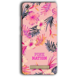 Gionee Pioneer P5W Mobile Covers Cases Pink nation - Lowest Price - Paybydaddy.com