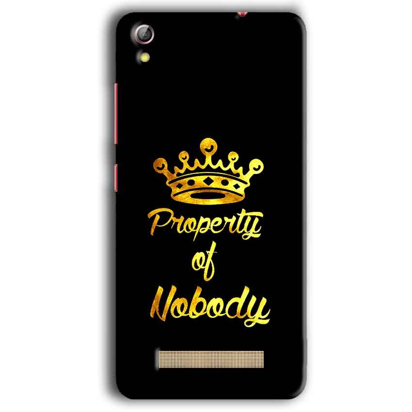 Gionee Pioneer P5W Mobile Covers Cases Property of nobody with Crown - Lowest Price - Paybydaddy.com