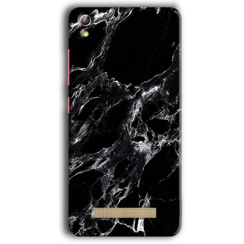 Gionee Pioneer P5W Mobile Covers Cases Pure Black Marble Texture - Lowest Price - Paybydaddy.com