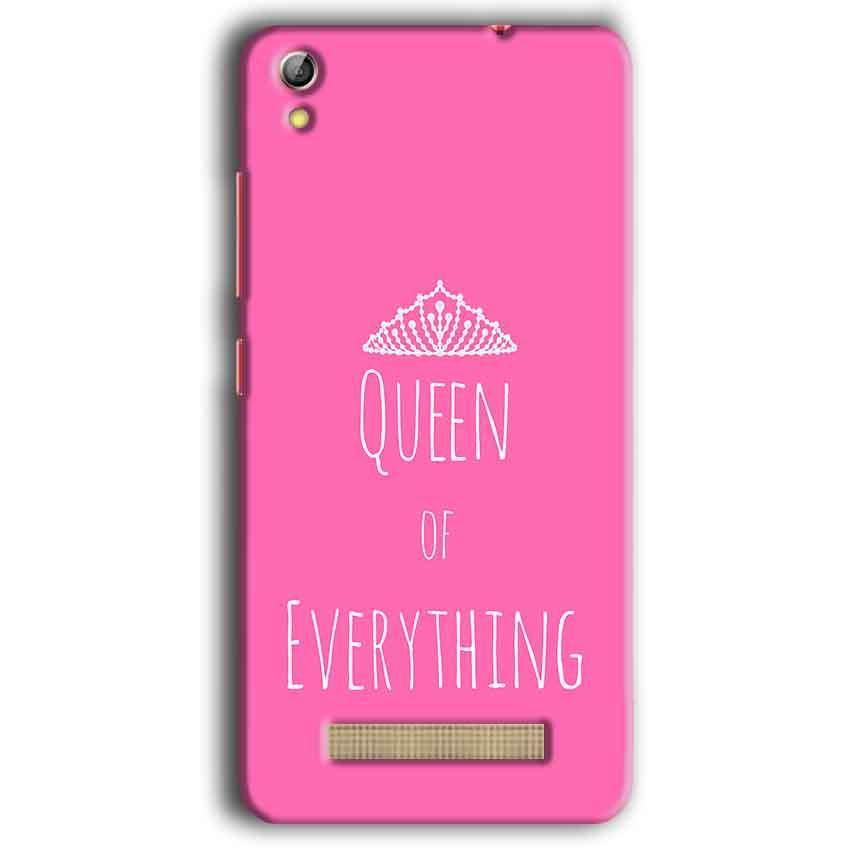 Gionee Pioneer P5W Mobile Covers Cases Queen Of Everything Pink White - Lowest Price - Paybydaddy.com