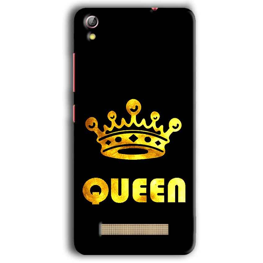 Gionee Pioneer P5W Mobile Covers Cases Queen With Crown in gold - Lowest Price - Paybydaddy.com