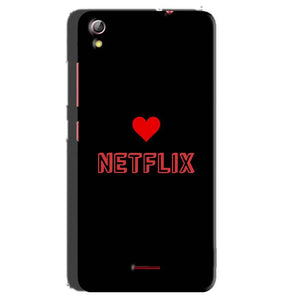 Gionee Pioneer P5 mini Mobile Covers Cases NETFLIX WITH HEART - Lowest Price - Paybydaddy.com