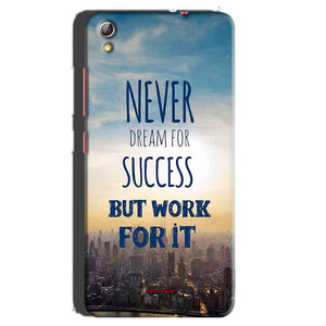 Gionee Pioneer P5 mini Mobile Covers Cases Never Dreams For Success But Work For It Quote - Lowest Price - Paybydaddy.com