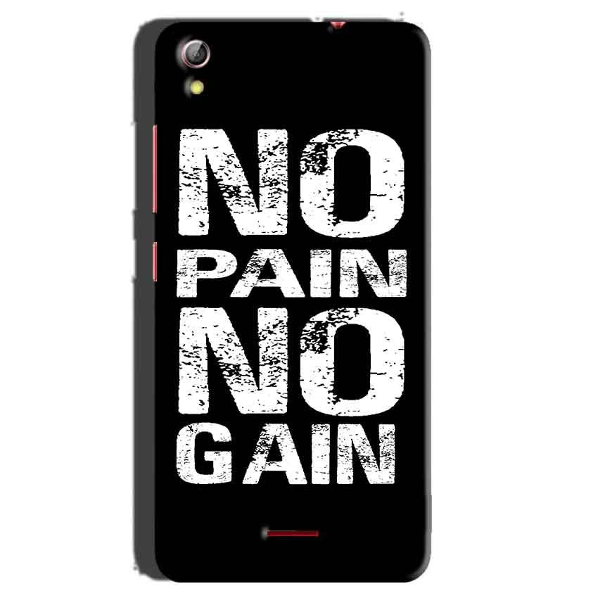 Gionee Pioneer P5 mini Mobile Covers Cases No Pain No Gain Black And White - Lowest Price - Paybydaddy.com