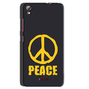 Gionee Pioneer P5 mini Mobile Covers Cases Peace Blue Yellow - Lowest Price - Paybydaddy.com