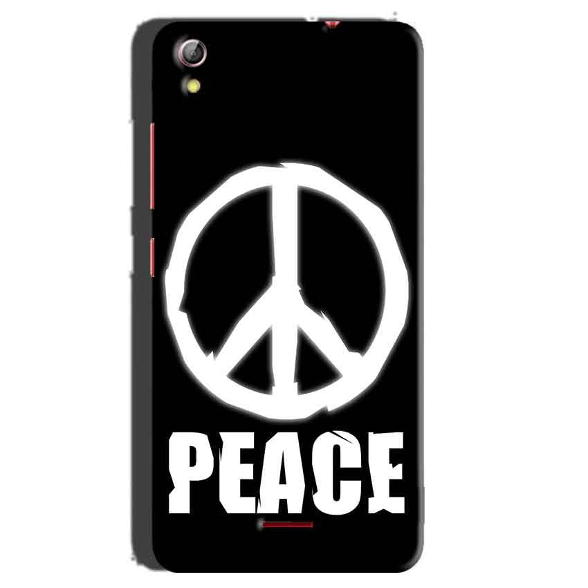 Gionee Pioneer P5 mini Mobile Covers Cases Peace Sign In White - Lowest Price - Paybydaddy.com