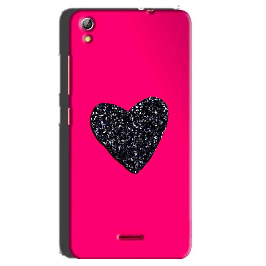 Gionee Pioneer P5 mini Mobile Covers Cases Pink Glitter Heart - Lowest Price - Paybydaddy.com