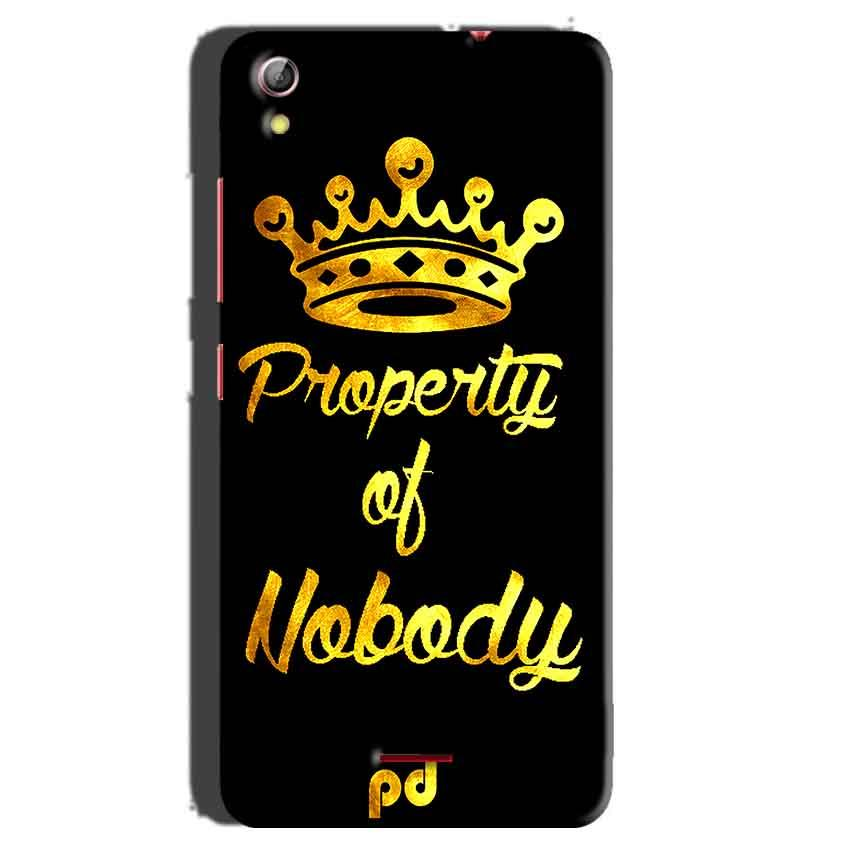 Gionee Pioneer P5 mini Mobile Covers Cases Property of nobody with Crown - Lowest Price - Paybydaddy.com