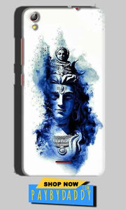 Gionee Pioneer P5 mini Mobile Covers Cases Shiva Blue White - Lowest Price - Paybydaddy.com