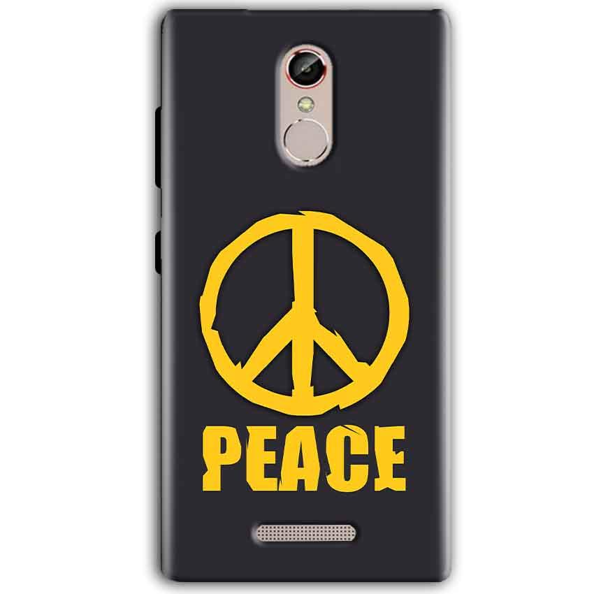 Gionee S6S Mobile Covers Cases Peace Blue Yellow - Lowest Price - Paybydaddy.com