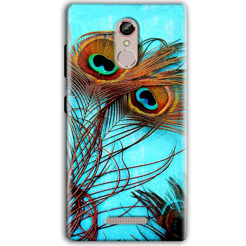 Gionee S6S Mobile Covers Cases Peacock blue wings - Lowest Price - Paybydaddy.com