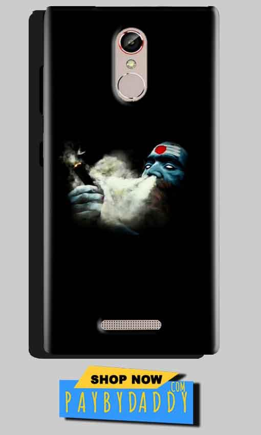 Gionee S6S Mobile Covers Cases Shiva Aghori Smoking - Lowest Price - Paybydaddy.com