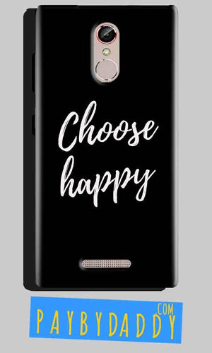 Gionee S6S Mobile Covers Cases Choose happy - Lowest Price - Paybydaddy.com