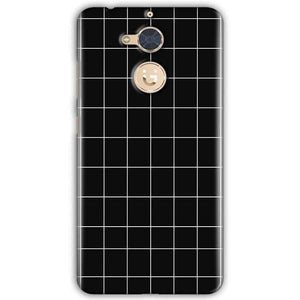 Gionee S6 Pro Mobile Covers Cases Black with White Checks - Lowest Price - Paybydaddy.com