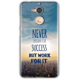 Gionee S6 Pro Mobile Covers Cases Never Dreams For Success But Work For It Quote - Lowest Price - Paybydaddy.com
