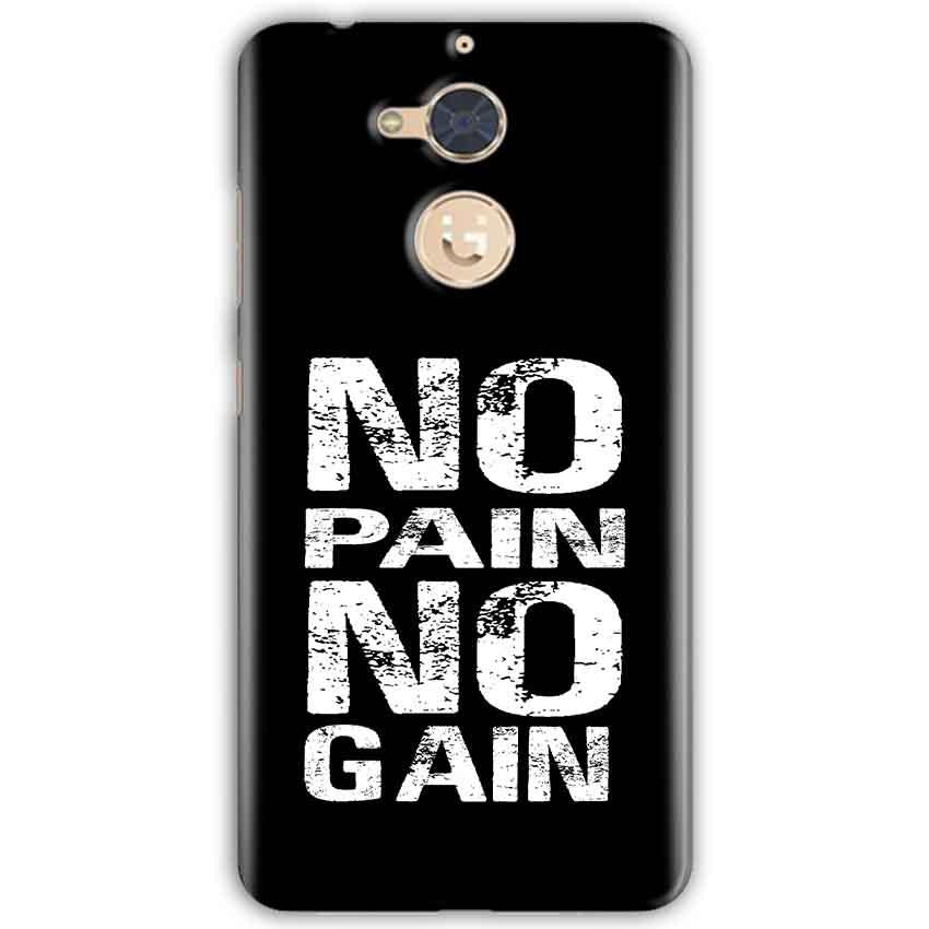 Gionee S6 Pro Mobile Covers Cases No Pain No Gain Black And White - Lowest Price - Paybydaddy.com