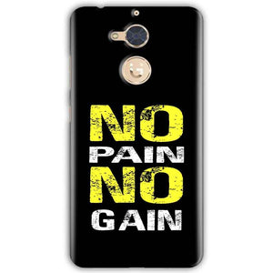 Gionee S6 Pro Mobile Covers Cases No Pain No Gain Yellow Black - Lowest Price - Paybydaddy.com