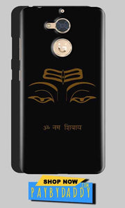 Gionee S6 Pro Mobile Covers Cases Om Namaha Gold Black - Lowest Price - Paybydaddy.com