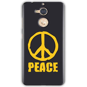 Gionee S6 Pro Mobile Covers Cases Peace Blue Yellow - Lowest Price - Paybydaddy.com