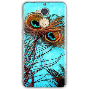 Gionee S6 Pro Mobile Covers Cases Peacock blue wings - Lowest Price - Paybydaddy.com